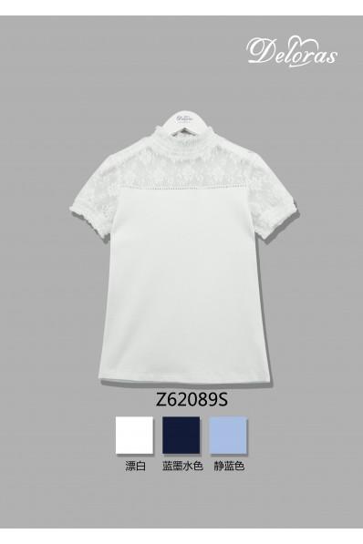 Трикотажная блузка с коротким рукавом
